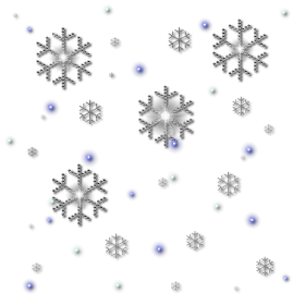 Glitter Snowfall Collection PNG