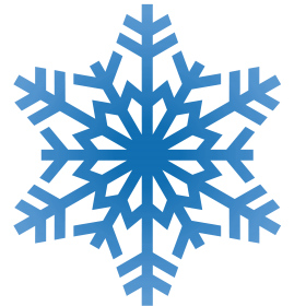 Snowflake Blue Winter PNG