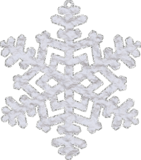 Snowflake with Glitter PNG