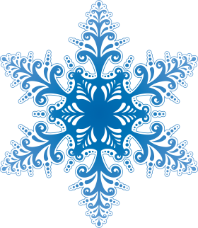 Blue Winter Snowflake PNG