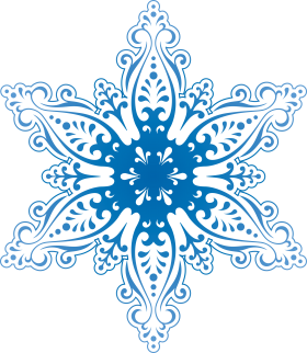 Frosty Snowflake Winter PNG