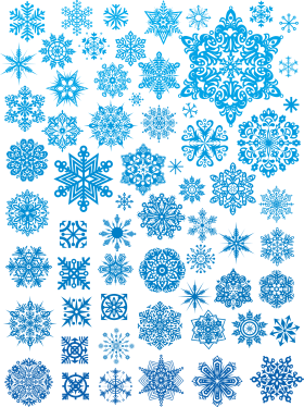 Icy Snowflake Collection PNG