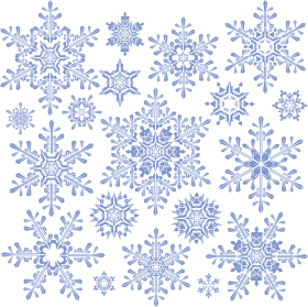 Frosty Snowflake Collection  PNG
