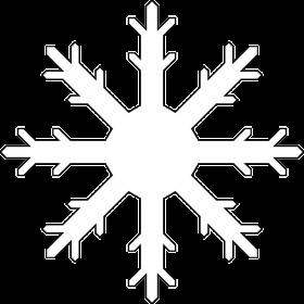 Frozen White Snowflake PNG