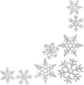 Ice Snowflake Right Bottom Corner  PNG