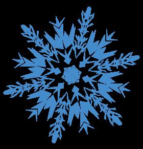Blue Frozen Snowflake PNG