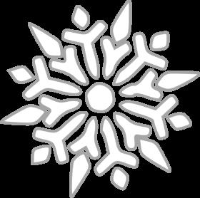 White Frozen Snowflake PNG