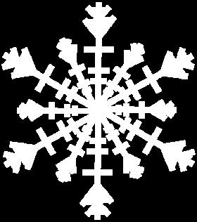 Icy Snowflake PNG