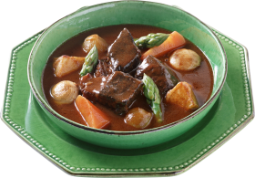 Soup with flesh carrots and potatoes PNG