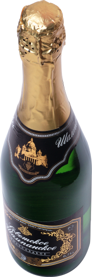 Sparkling Wine From A Bottle PNG