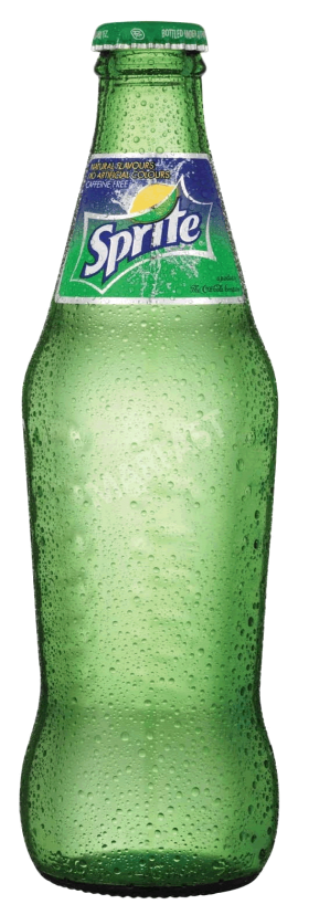Sprite in a Glas Bottle PNG