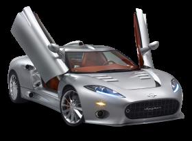Spyker C8 Silver Car PNG