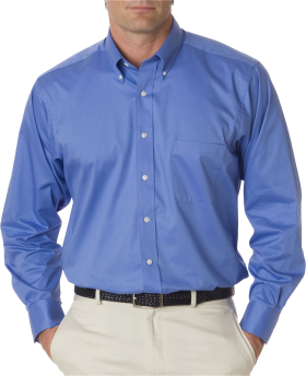 Standard Blue Full Plain Shirt PNG