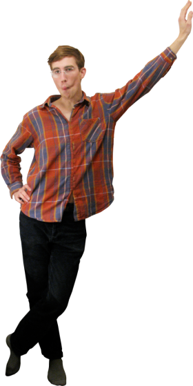 Standing Leaning PNG
