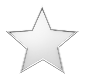 Silver Christmas Star PNG