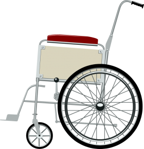 Steel Wheelchair PNG