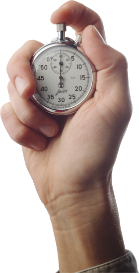 Stop Watch On Hand PNG