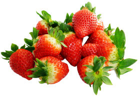 Strawberries  with leaf PNG