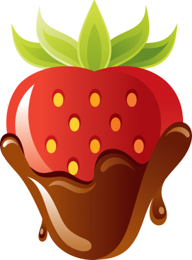 Strawberry with chocolate PNG