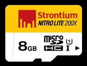 Strontium MicroSD Memory Card PNG