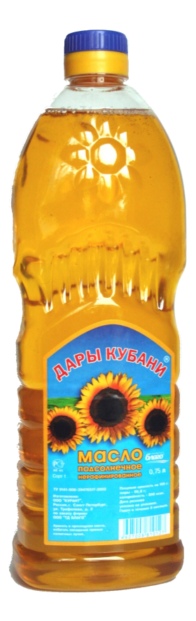 Sunflower Oil Bottle Russian PNG
