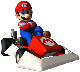 Super Mario On Cart PNG