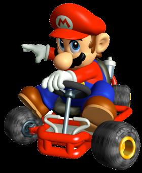 Super Mario On Kart PNG