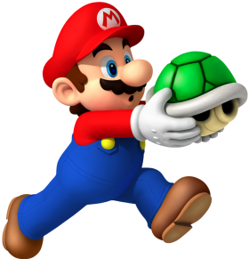 Super Mario With Shell PNG