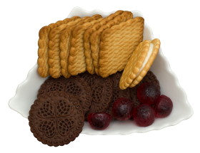 Sweet Biscuit Tray PNG