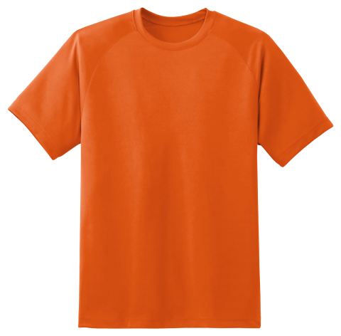 T Shirt Orange PNG
