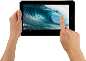 Tablet In Hand PNG