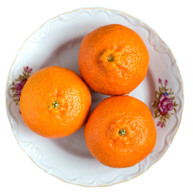 Tangerines on Plate PNG