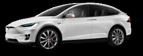 Tesla Model X White Car PNG