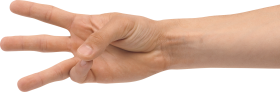 Three Finger Hand PNG