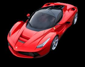 Top View of Ferrari LaFerrari Car PNG