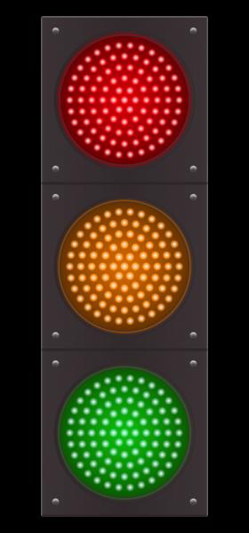 Traffic Light Vector PNG