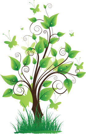 Tree with Grass PNG