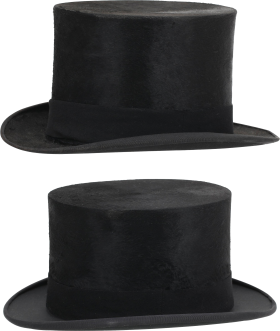 Two Black Hat PNG