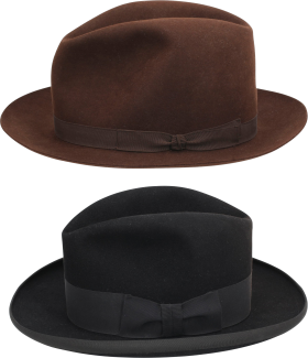 Two Chocolate  Black Hat PNG