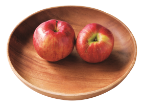 Two Red Apples in Plate PNG