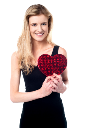 Valentines Day Girl PNG