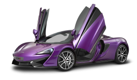 Violet McLaren 570s Car PNG