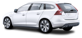 Volvo v60 Hybrid Silver Car PNG