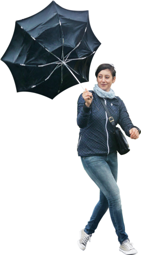 Walking In The Rain PNG