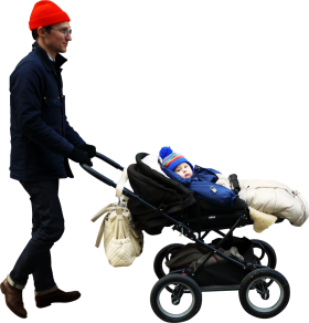 Walking Stroller PNG