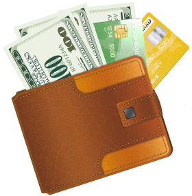 Wallet With Credit Cards PNG