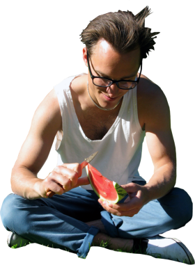 Watermelon Sitting PNG
