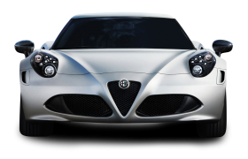 White Alfa Romeo 4C Car PNG