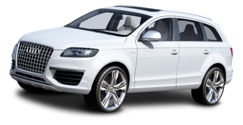 White Audi Car PNG