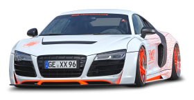 White Audi R8 Car PNG